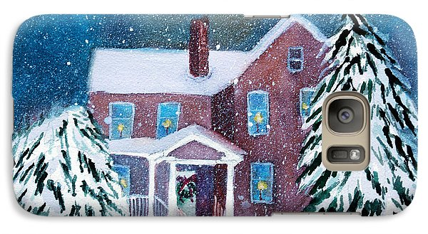 Galaxy Case featuring the painting Vermont Studio Center In Winter by Donna Walsh