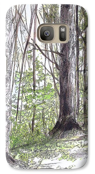 Galaxy Case featuring the painting Vermont Woods by Laurie Rohner