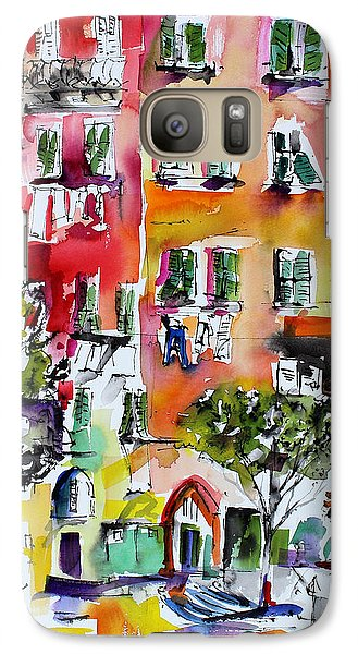 Galaxy Case featuring the painting Vernazza Laundry by Ginette Callaway