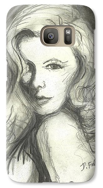 Galaxy Case featuring the mixed media Veronica Lake by Denise Fulmer