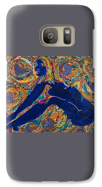 Galaxy Case featuring the tapestry - textile Vesica  Pisces by Apanaki Temitayo M