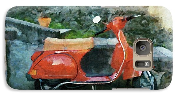 Galaxy Case featuring the painting Vespa Parked by Jeff Kolker