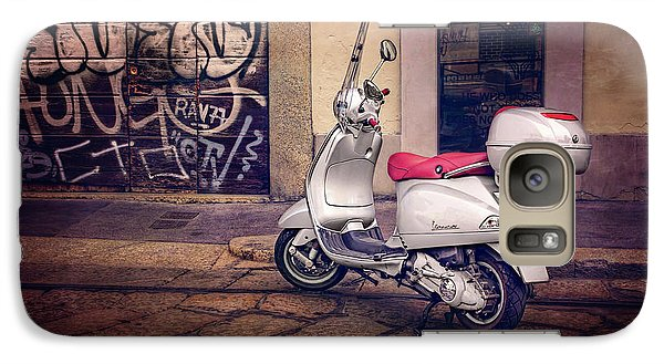 Galaxy Case featuring the photograph Vespa Scooter In Milan Italy  by Carol Japp