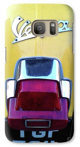 Galaxy Case featuring the photograph Vespa Style by Rebecca Harman