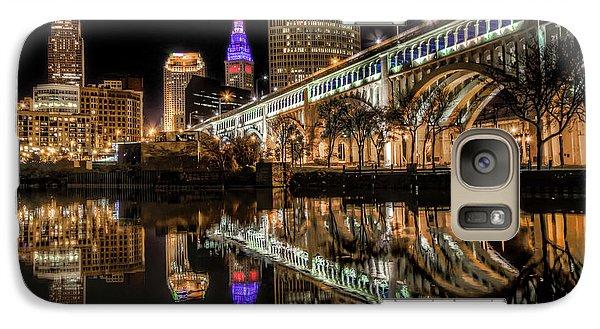 Galaxy Case featuring the photograph Veterans Memorial Bridge by Brent Durken