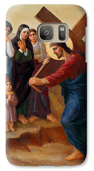 Galaxy Case featuring the painting Via Dolorosa - Daughters Of Jerusalem - 8 by Svitozar Nenyuk