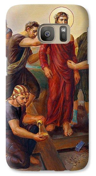 Galaxy Case featuring the painting Via Dolorosa - Disrobing Of Christ - 10 by Svitozar Nenyuk