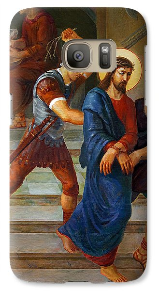 Galaxy Case featuring the painting Via Dolorosa - Stations Of The Cross - 1 by Svitozar Nenyuk