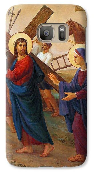 Galaxy Case featuring the painting Via Dolorosa - The Way Of The Cross - 4 by Svitozar Nenyuk