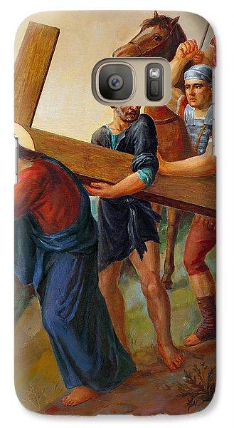 Galaxy Case featuring the painting Via Dolorosa - Way Of The Cross - 5 by Svitozar Nenyuk