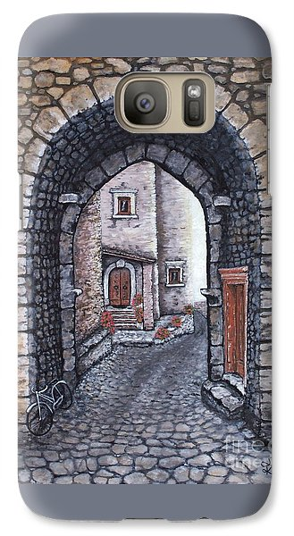 Galaxy Case featuring the painting Via In Santo Stefano by Judy Kirouac
