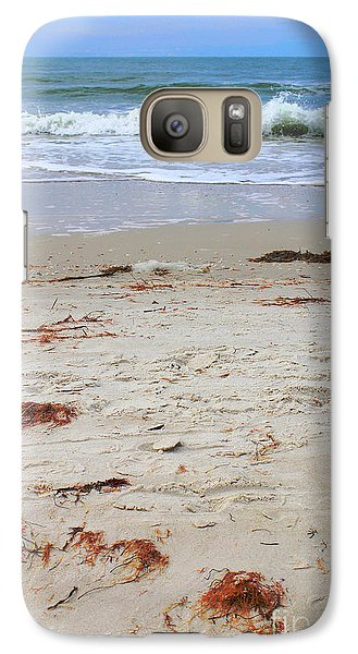 Galaxy Case featuring the photograph Vibrant Beach With Wave by Jeanne Forsythe