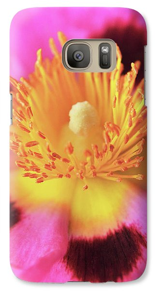 Galaxy Case featuring the photograph Vibrant Cistus Heart. by Terence Davis