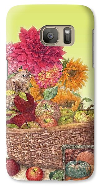 Galaxy Case featuring the painting Vibrant Fall Florals And Harvest by Judith Cheng