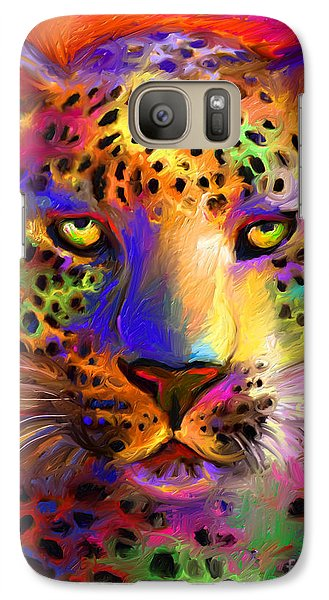 Vibrant Leopard Painting Galaxy S7 Case