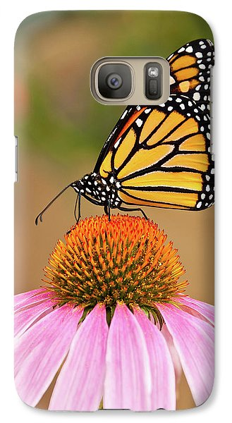 Galaxy Case featuring the photograph Monarch Butterfly On A Purple Coneflower by Jeff Goulden