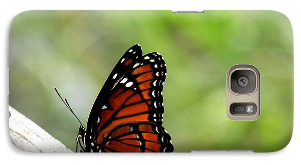 Galaxy Case featuring the photograph Viceroy Butterfly Side View by Rosalie Scanlon