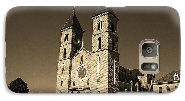 Galaxy Case featuring the photograph Victoria, Kansas - Cathedral Of The Plains Sepia 6 by Frank Romeo
