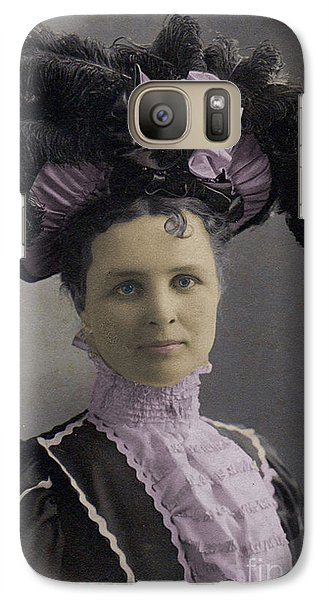 Galaxy Case featuring the photograph Victorian Women With Big Hat by Lyric Lucas