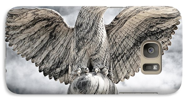 Galaxy Case featuring the photograph Victorious Eagle Of Marble by Yurix Sardinelly