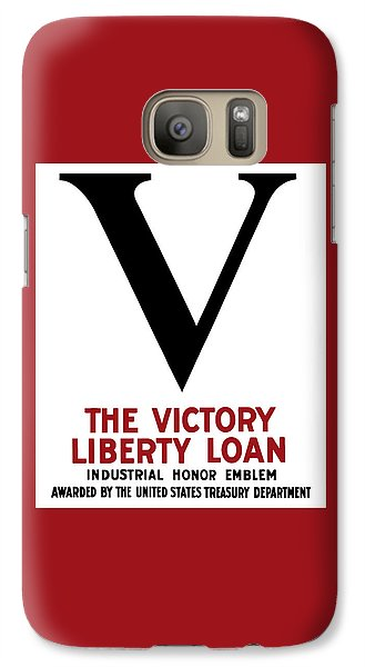 Galaxy Case featuring the mixed media Victory Liberty Loan Industrial Honor Emblem by War Is Hell Store