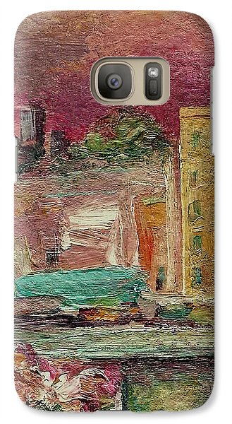 Galaxy Case featuring the painting View From A Balcony by Mary Wolf
