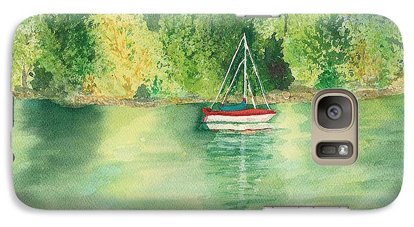 Galaxy Case featuring the painting View From Millbay Ferry by Vicki  Housel