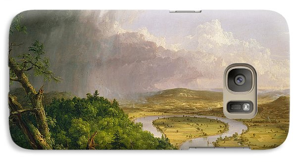 Galaxy Case featuring the painting View From Mount Holyoke Northampton Massachusetts After A Thunderstorm. The Oxbow by Thomas Cole
