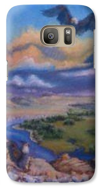 Galaxy Case featuring the painting View From Sheep Rock by Dawn Senior-Trask