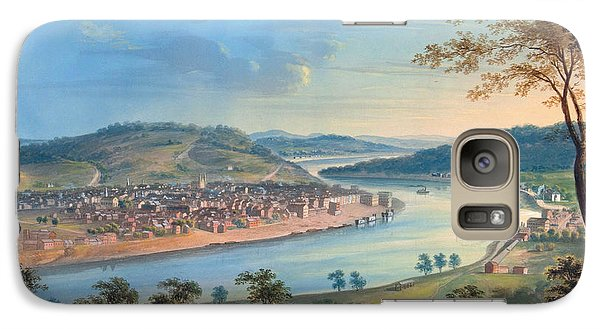 Galaxy Case featuring the painting View Of Cincinnati From Covington by John Caspar Wild