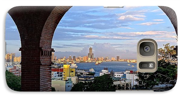 Galaxy Case featuring the photograph View Of Kaohsiung City At Sunset Time by Yali Shi