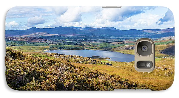 Galaxy Case featuring the photograph View Of Lough Acoose In Ballycullane From The Foothill Of Macgil by Semmick Photo