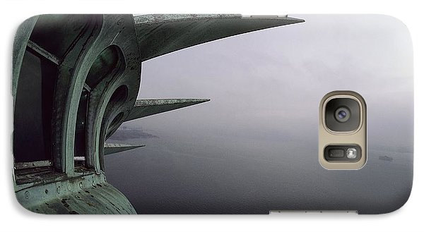 Statue Of Liberty Galaxy S7 Case - View Of New York Harbor From The Top by Paul Chesley