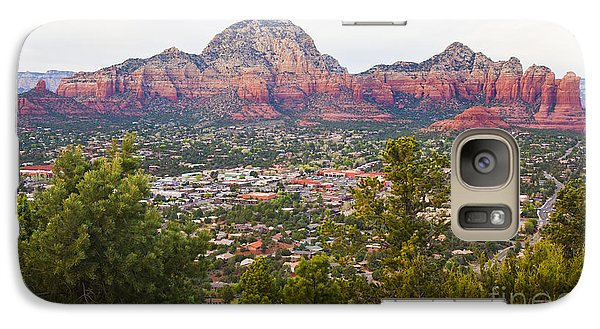 Galaxy Case featuring the photograph View Of Sedona From The Airport Mesa by Chris Dutton