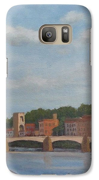 Galaxy Case featuring the painting View Of The Arno 2 by Jennifer Boswell
