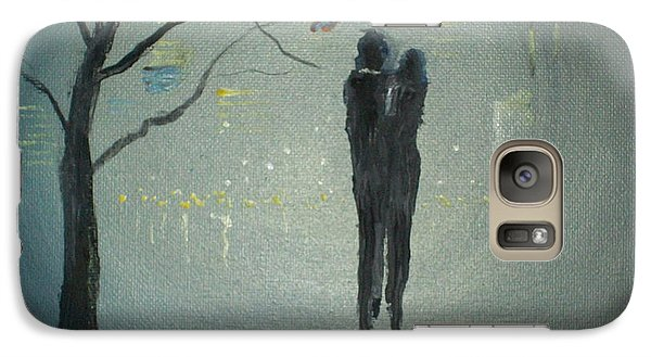 Galaxy Case featuring the painting View Of The City by Raymond Doward