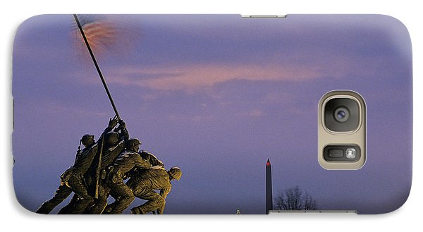 Lincoln Memorial Galaxy S7 Case - View Of The Iwo Jima Monument by Kenneth Garrett