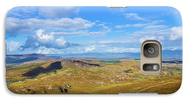 Galaxy Case featuring the photograph View Of The Mountains And Valleys In Ballycullane In Kerry Irela by Semmick Photo