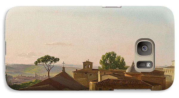 Galaxy Case featuring the painting View On The Quirinal Hill. Rome by Simon Denis