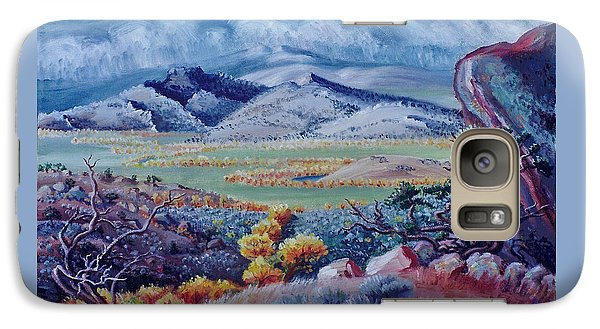 Galaxy Case featuring the painting View South From Cedar Breaks by Dawn Senior-Trask