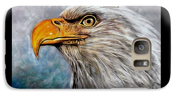 Galaxy Case featuring the painting Vigilant Eagle by Patricia L Davidson