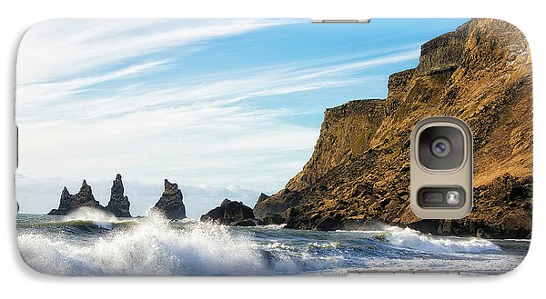 Galaxy Case featuring the photograph Vik Reynisdrangar Beach And Ocean Iceland by Matthias Hauser