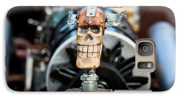 Galaxy Case featuring the photograph Viking Skull Hood Ornament by Chris Dutton