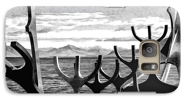 Galaxy Case featuring the photograph Viking Tribute by Rick Bragan