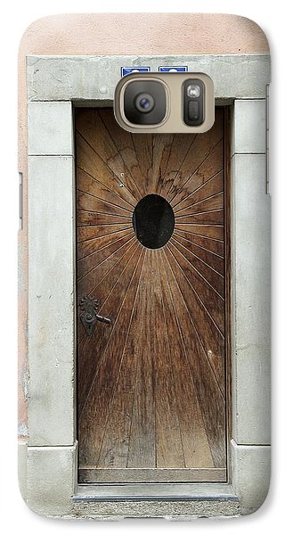 Galaxy Case featuring the photograph Village Door Surrounded By Peach by Colleen Williams