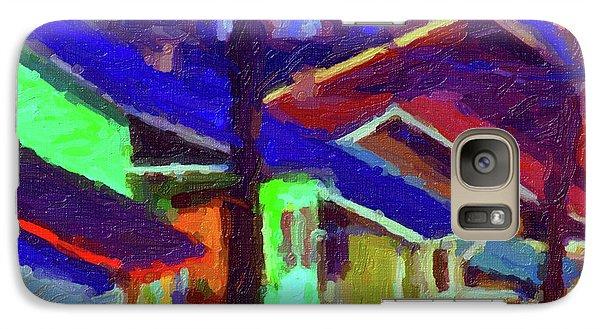 Galaxy Case featuring the digital art Village Houses by Richard Farrington