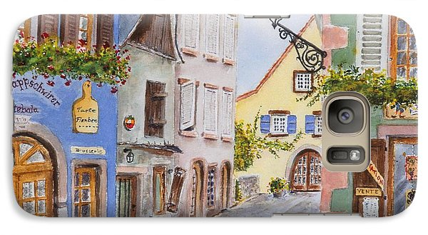 Galaxy Case featuring the painting Village In Alsace by Mary Ellen Mueller Legault