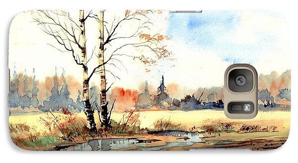 Sparrow Galaxy S7 Case - Village Scene I by Suzann's Art