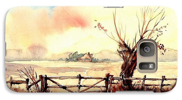 Sparrow Galaxy S7 Case - Village Scene IIi by Suzann's Art
