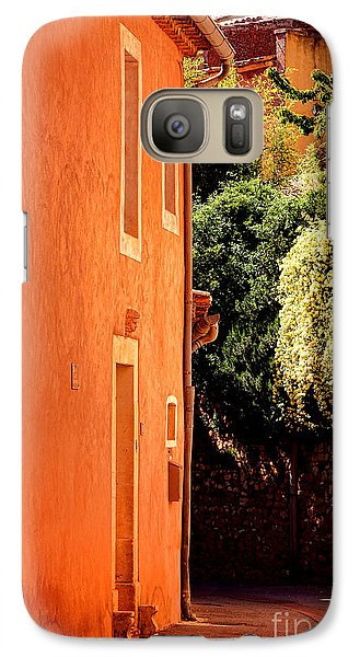 Galaxy Case featuring the photograph Village Street In Provence by Olivier Le Queinec
